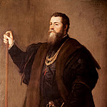 Titian (Tiziano Vecellio) - Portrait of a Knight of the Order of Santiago