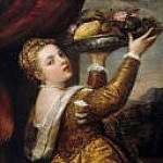 Titian (Tiziano Vecellio) - Girl with fruit bowl
