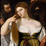 Titian (Tiziano Vecellio) - Girl Before the Mirror (Titian and workshop)