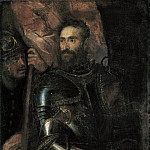 Titian (Tiziano Vecellio) - Portrait of Pierluigi Farnese with His Standard Bearer