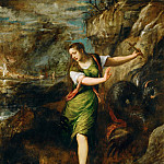 Saint Margaret and the Dragon, Titian (Tiziano Vecellio)