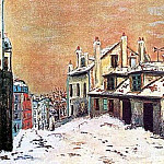 Maurice Utrillo - Winter Scene