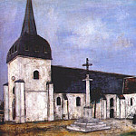 Maurice Utrillo - utrillo_church_at_st_hilaire_c1911