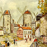 Maurice Utrillo - Windmills of Montmartre1949