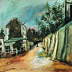 Maurice Utrillo - Rue Saint Vincent and the Lapin Agile 1917