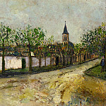 Maurice Utrillo - Church and Street in Montmagny 1908