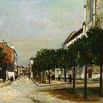 Maurice Utrillo - Rue du Moutier and Place dl la Mairie at Villejuif 1915
