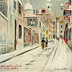 Maurice Utrillo - Sacre Coeur de Montmartre and Passage Cottin 1934