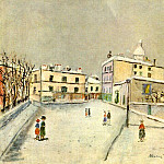 Maurice Utrillo - Snow in Montmartre