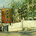 Maurice Utrillo - Rue Orchampt in Montmartre 1910