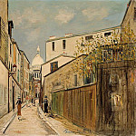 Maurice Utrillo - Church of Le Sacre Coeur from rue Saint Rustique 1928