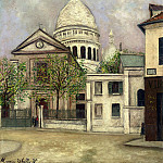 Maurice Utrillo - Eglise Saint Pierre and the Coupola of Sacre Coeur 1911