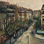Maurice Utrillo - Rue Custine a Montmartre 1909