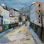 Maurice Utrillo - A Street in a Suburb of Paris 1912
