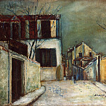 Maurice Utrillo - Rue du Mont Cenis in the Snow 1917