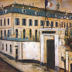 Maurice Utrillo - utrillo_military_hospital_1914