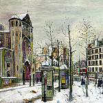 Maurice Utrillo - The Place des Abbesses in the Snow 1918