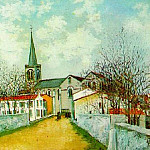 Maurice Utrillo - Church in Suburbs