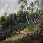 Unknown painters - Landscape with a Road near a Lake [Manner of]