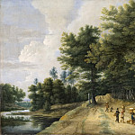 Johan Way - Landscape with a Road through a Wood of Beeches