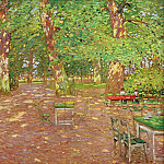 Wilhelm Trubner - The beer garden