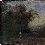 Unknown painters - Landscape with rest on flight into Egypt