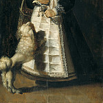 Unknown painters - Portrait of a Girl with a Dog