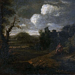 Unknown painters - Landscape with St John the Baptist