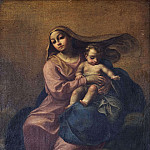 Unknown painters - Madonna and Child on a Cloud