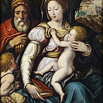 Unknown painters - The Holy Family with the Infant St John
