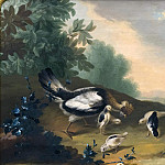 Unknown painters - Landscape with Poultry