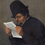 Johan Way - Bust of an Old Peasant Reading a Paper