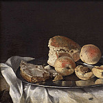 Unknown painters - Still Life with Fruit and Bread
