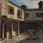 Francesco Trevisani - Patio of an Italian convent