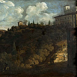 Johan Baptista van Uther - View of the Villa Medici, Rome