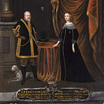 Unknown painters - Johan Georg I (1585-1656), Elector of Saxony, Magdalena Sibylla (1652-1712), Princess of
