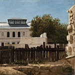 Demolition plot with palladian villa in the background