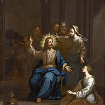 Carl de Unker - Christ with Martha and Mary
