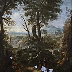 Unknown painters - Landscape with Christ and the Two Disciples on the Way to Emmaus