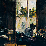 Lesser Ury - Woman Writing at a Desk