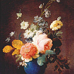Anne Vallayer-Coster - vallayer-coster_roses_ramunculus_etc_in_blue_vase_c1775-80