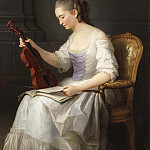 Anne Vallayer-Coster - Portait of a violinist