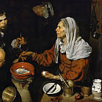 An Old Woman Cooking Eggs, Diego Rodriguez De Silva y Velazquez