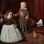 Portrait of Balthazar Carlos with a dwarf