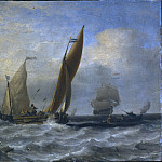 Carl Wahlbom - Fishing Boats at Sea