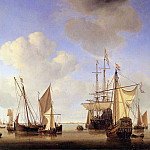 Willem van de Velde the Younger - Velde van de Willem Jr Ships in the roads Sun