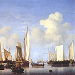 Willem van de Velde the Younger - velde-the-younger_a_states_yacht_and_other_ships_c1658-60