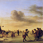 Adriaen van de Velde - Golfers on the Ice near Haarlem