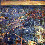 A naval battle between Florence and Pisa