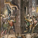 Raffaello Sanzio da Urbino) Raphael (Raffaello Santi - Massacre of the Huguenots on Saint Bartholomew's Day, August 24, 1572
